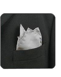FORZIERI - Gray Grey Silk Pocket Square - Lyst