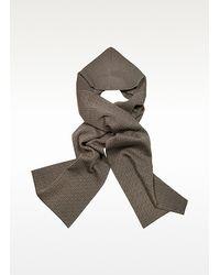 Fendi - Brown Fur Print Zucca Logo Square Scarf - Lyst