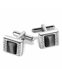 FORZIERI - Gray Anthracite Silver-plated Cufflinks for Men - Lyst