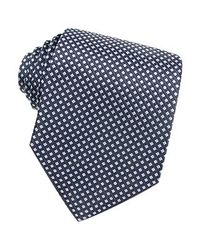 FORZIERI Blue Checks Extra-long Basketweave Silk Tie for men
