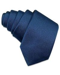 FORZIERI | Solid Blue Twill Silk Narrow Tie for Men | Lyst