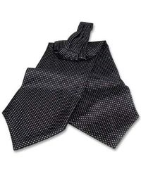 FORZIERI | Black Polkadot Silk Ascot for Men | Lyst