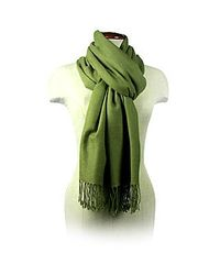 FORZIERI - Green Olive Pashmina Shawl - Lyst
