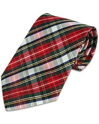 FORZIERI | Red Plaid Silk Tie for Men | Lyst