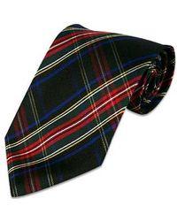 FORZIERI - Black Plaid Silk Tie for Men - Lyst
