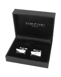 FORZIERI | Metallic Sterling Silver Rectangular Cuff Links for Men | Lyst