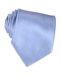 FORZIERI | Shimmering Solid Sky Blue Textured Silk Tie for Men | Lyst
