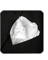 FORZIERI | White Silk Pocket Square | Lyst