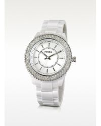 Fossil | Round White Watch | Lyst