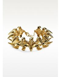 Giuseppe Zanotti - Metallic Animal Bones Golden Collar Necklace - Lyst