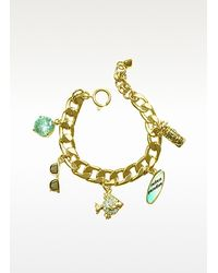 Juicy Couture - Metallic Fully Loaded Charm Bracelet - Lyst