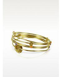 KENZO - Metallic Hanae Golden Bracelets - Lyst