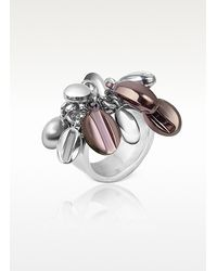 Zoppini - Multicolor Coffee Collection Stainless Steel Charm Ring - Lyst