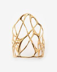 Alexis Bittar | Metallic Liquid Gold Interlaced Cuff Bracelet | Lyst