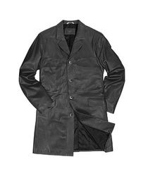 FORZIERI | Men's Black Italian Genuine Leather Coat for Men | Lyst
