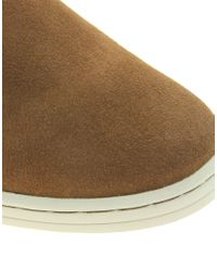 River Island | Brown Suede Piped Desert Boots for Men | Lyst