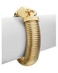 1AR By Unoaerre Metallic Ribbed Snake Bracelet