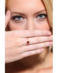 AKIRA - Red Single Stone Ring in Rubygold - Lyst