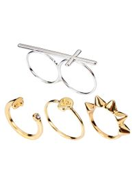 ASOS - Multicolor Pack Of Eclectic Rings - Lyst