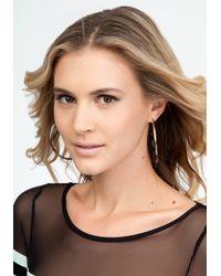 Bebe - Metallic Tri-colored Hoop Earring - Lyst