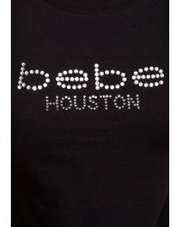 Bebe Black Bebe Logo Houston Tee
