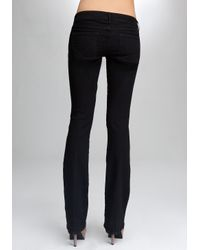 Bebe Black Signature Stretch Bootcut Jeans