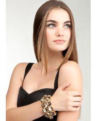 Bebe - Metallic Multi Faceted Glam Stretch Bracelet - Lyst