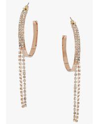 Bebe - Pink Hoop Crystal Strand Earring - Lyst