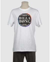 Billabong White Short Sleeve T-shirt for men