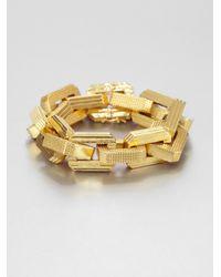 Eddie Borgo | Metallic Rectangular Link Bracelet | Lyst