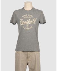 Fred Mello Gray Short Sleeve T-shirt for men