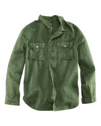 H&M Green Shirt Jacket for men