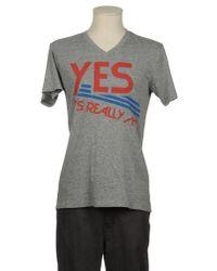 Local Celebrity Gray Short Sleeve T-shirt for men