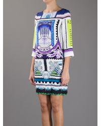 Mary Katrantzou White Venezuela Printed Dress