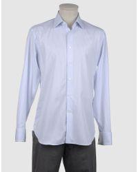 Bagutta Blue Long Sleeve Shirt for men