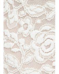 Bebe - White Lace Scoop Neck Raglan Top - Lyst