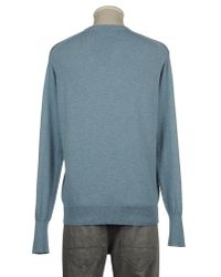 Drumohr Blue V-neck for men