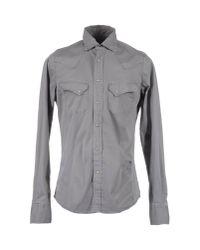 Pence Gray Long Sleeve Shirt for men