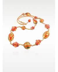 Antica Murrina - Metallic Sharon Murano Glass Bead Toggle Necklace - Lyst
