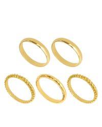 ASOS - Metallic Multipack Textured Rings - Lyst