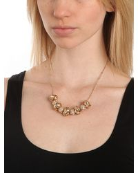 BaubleBar - Metallic Gold Disco Knot Necklace - Lyst