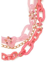 BaubleBar | Chunky Pink Link Strands | Lyst