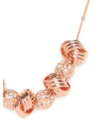 BaubleBar - Metallic Rose Disco Knot Necklace - Lyst