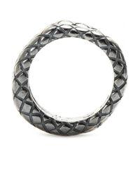Bottega Veneta | Gray Intrecciato Ring Set | Lyst
