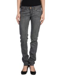 Care Label Gray Denim Trousers