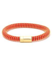 Carolina Bucci | Red Twisted 18K Gold-Plated Sterling Silver Bracelet | Lyst
