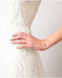 Dezso by Sara Beltran - Blue 18k Rose Gold & Opal Shark Fin Bracelet - Lyst