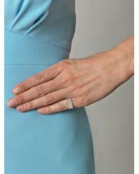 DINA KAMAL DK01 - White Diamond Beige Gold Pinky Ring - Lyst