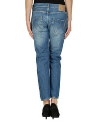 Dondup Blue Denim Trousers