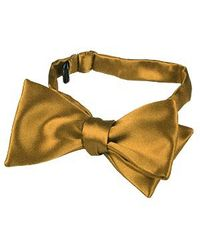 FORZIERI | Ocher Yellow Solid Silk Self-tie Bowtie for Men | Lyst